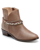 "Klub Nico ""Zina"" Brown Leather Bootie Size 7 NWB $235 - $147.51"