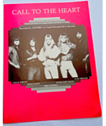 """Vintage Sheet Music 1984 """"Call To The Heart"""" #7623 - $9.99"""