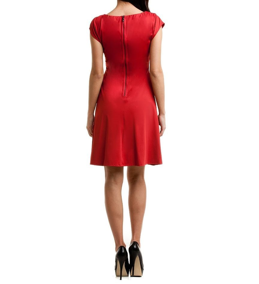 Vince Camuto Garnet Asymmetrical Cap Sleeve Dress Sz 2  NWT