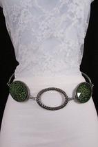 New Women Belt Fashion Silver Metal Chains Hip Big Leopard Oval XS S M L... - $16.64