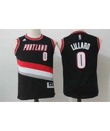 Youth Portland Trail Blazers #0 Damian Lillard Black Basketball Jersey S... - $26.66