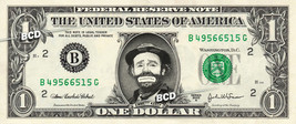 EMMETT KELLY on REAL Dollar Bill Spendable Cash Celebrity Money Mint - $4.44