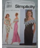 Simplicity Jessica McClintock Misses / Petite Size 10-14 Dress #7817 New - $5.99