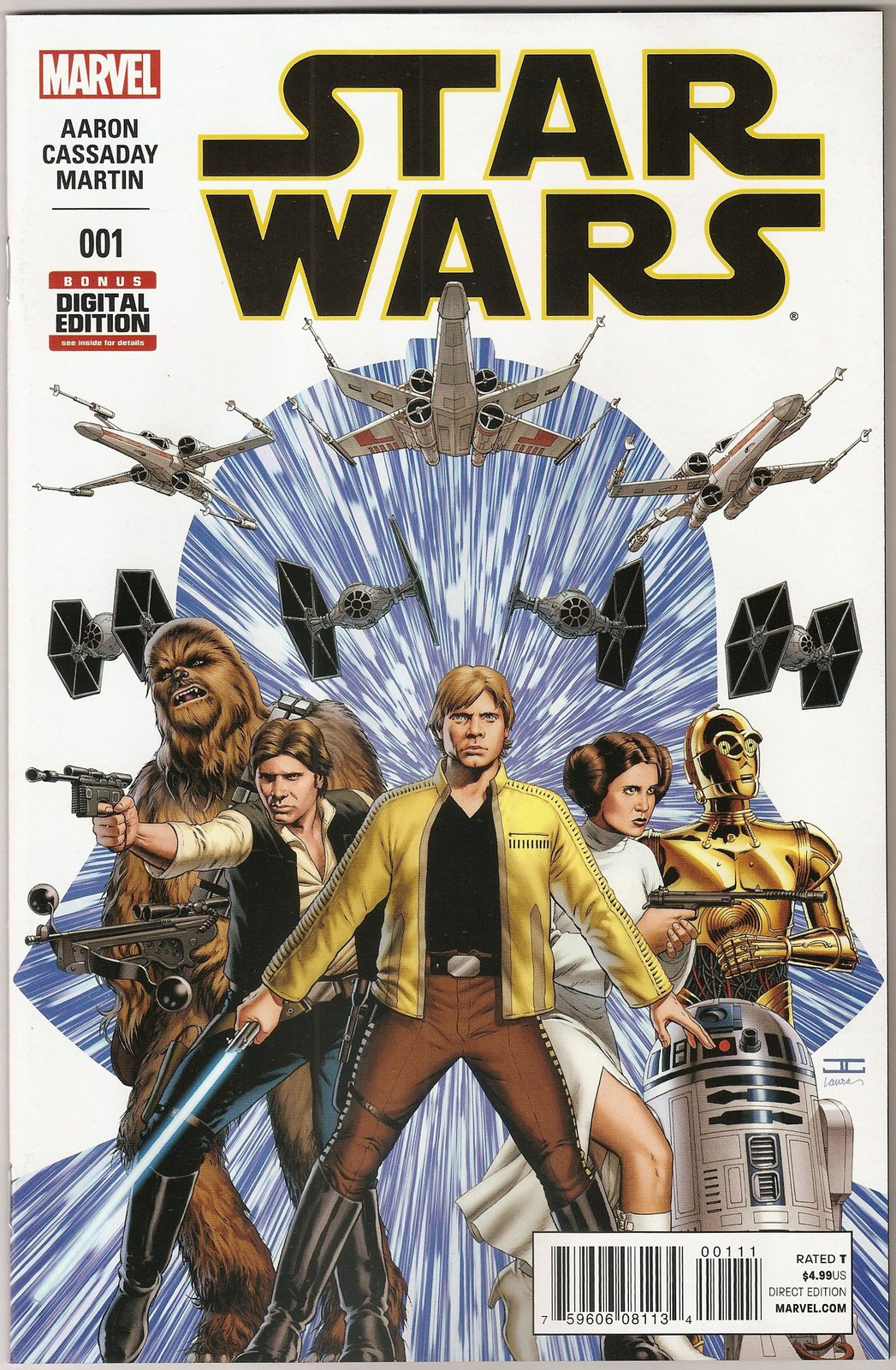 Star Wars 2015  Comic Book Issue #1 John Cassaday Jason Aaron - Marvel Comics