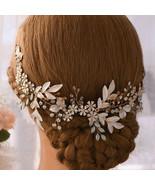 Gold handmade flower hair ornament - $30.55