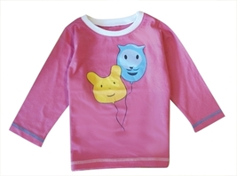 New Deezo Kids Funny Face Balloon Design Tops with sleeve sizes 00-2 - $15.40