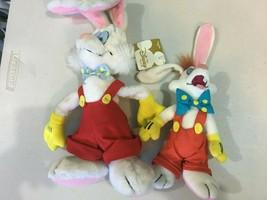 """Who Framed Roger Rabbit Disney Store Mini Bean Bag 8"""" and 12"""" Plush - $64.35"""
