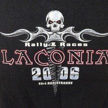 Laconia 2006 Rally and Races Bike Week 83rd Anniversary Black T Shirt Size L - $16.14