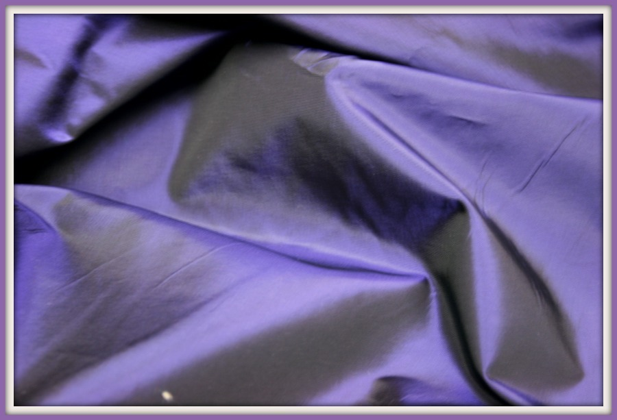"DEEP RICH IRIDESCENT PURPLE  SILKY TAFFETA 60"" WIDE IMPORTED FROM FRANCE"