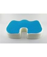 Orthopedic Cool Gel Memory Foam Seat Cushions Car Train Plane Cushions L... - $17.98