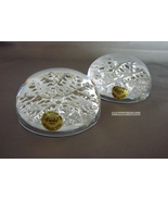 Pair  Snow Flake Crystal Paperweights~- ECHT BLEIKRISTALL  - $32.99