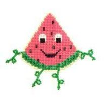 Watermelon Buddy Kit cross stitch kit Flowers 2 Flowers - $8.00