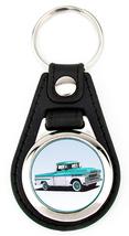 1959 Chevrolet Apache Pickup Truck Richard Browne keychain key fob Aqua ... - $7.50
