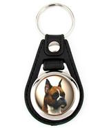 Boxer Dog Artwork Keychain Key Fob - $7.50