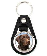 Chocolate Labrador Retriever Brown Lab Dog Artwork Keychain Key Fob - $7.50