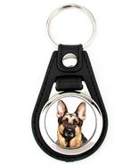 German Shepherd Dog Artwork Keychain Key Fob - $7.50