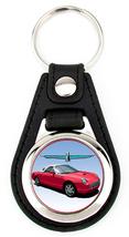 11th Generation Ford Thunderbird hardtop Artwork key fob - Red White 7 Spoke - $7.50