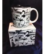 Vtg Walt Disney Steamboat Willie Mug Mickey Mouse Black White With Box J... - $39.11