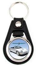 11th Generation Ford Thunderbird Softtop Artwork T-Bird key fob - White 21 Spoke - $7.50