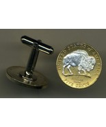 """New Jefferson nickel """"White Buffalo"""", 2 Toned Gold on Silver, coin cuff... - $86.00"""