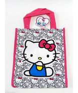 Hello Kitty By Sanrio Reusable Mini Tote Lunch Shop Bag Vinyl 40th Anniv... - $3.49