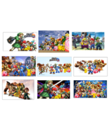 9 Super Smash Brothers inspired Stickers, Party Supplies,Favors,Gifts,Bi... - $8.99