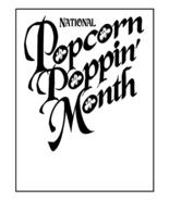Popcorn Month -Digital Download-ClipArt-ArtClip-Digital  - $4.00