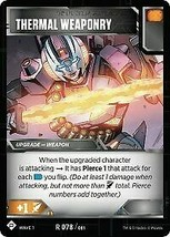 Transformers TCG - Thermal Weaponry - x3 cards - Wave 1 - WOTC - $4.70