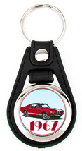 1967 Shelby GT-500 Ford Mustang Richard Browne Artwork Key Fob - Red - $7.50