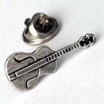 Silver Violin Cello- Men's Tie Tack / Unisex Pi... - $12.99