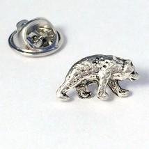 Silver Walking Bear- Men's Tie Tack OR Unisex P... - $12.99