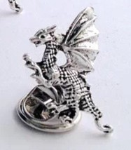 Silver Wing Dragon Accessory, Men's Tie Tack OR... - $12.99