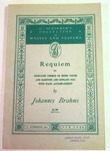"Antique Christian Music Book - ""Requiem"" 4 Part Choruses Mixed Voices #7111 - $6.99"