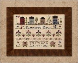 Patriot's Row cross stitch chart Classic Colorworks  - $9.00