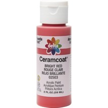 Plaid Delta Creative Ceramcoat Acrylic Paint In Assorted Colors (2 Oz),Bright Re - $6.01