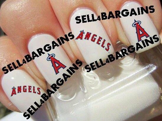Star quality los angeles angels baseball tattoo nail art for Tattoo supply los angeles