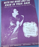 "Vintage Sheet Music - 1940 ""With The Wind and The Rain In Your Hair"" #7856 - $7.49"