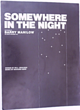 """1975 Vintage Sheet Music """"Somewhere In the Night"""" Recorded by Barry Mani... - $7.49"""