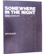 "1975 Vintage Sheet Music ""Somewhere In the Night"" Recorded by Barry Mani... - $7.49"