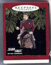 Star Trek Commander Riker Action Figure Hallmark Christmas Ornament new ... - £54.01 GBP