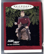 Star Trek Commander Riker Action Figure Hallmark Christmas Ornament new in box - $69.99