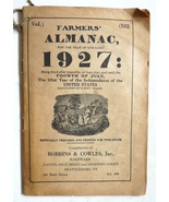 Farmer's Almanac 1927 Robbins Cowles Brattleboro VT vintage Winchester a... - $12.00
