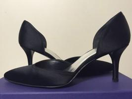 Stuart Weitzman Twice Black Satin Women's Dress... - $146.52