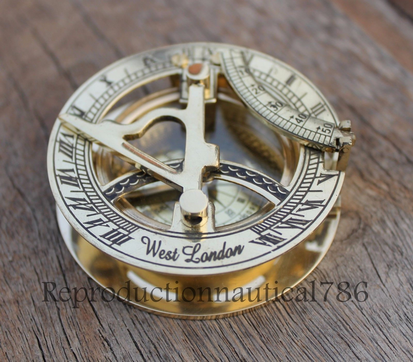Efficient Maritime Compass Sundial Navigation Hiking Camping Compasses ~ Vintage Clock New Maritime