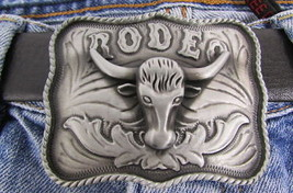 New Buckle Fashion Antique Silve Bull Head Silver Metal Western Cowboy 3D Rodeo - $15.67