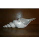 Fritz and Floyd , White  Sea Shell Planter , Nautical ,  1 foot 5 in . - $30.00