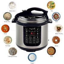 Digital Power Pressure Cooker 13 Multi Function Electric 8 Quart Stainle... - £190.57 GBP