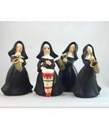Napco 1729 Catholic nun figurines musical instruments sax bongo drum lot... - $40.00