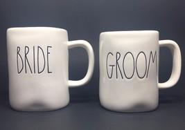 "Rae Dunn Artisan Collection by Magenta ""BRIDE and GROOM"" Coffee Mugs Set - $14.50"
