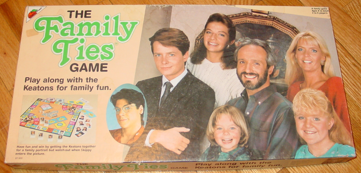 Primary image for FAMILY TIES GAME W MICHAEL J FOX #87300 1987 APPLE STREET COMPLETE